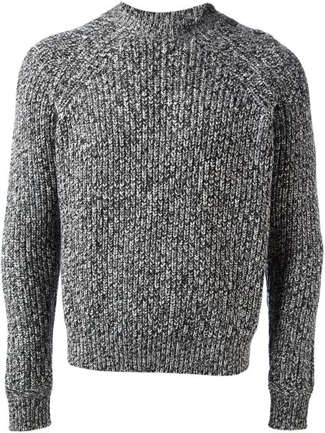 Carven Thick Knit Sweater In Black For Lyst