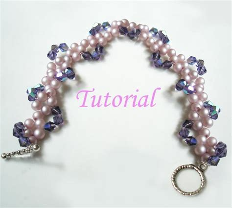 beaded jewelry tutorials beaded pearly twine bracelet tutorial by splendere craftsy