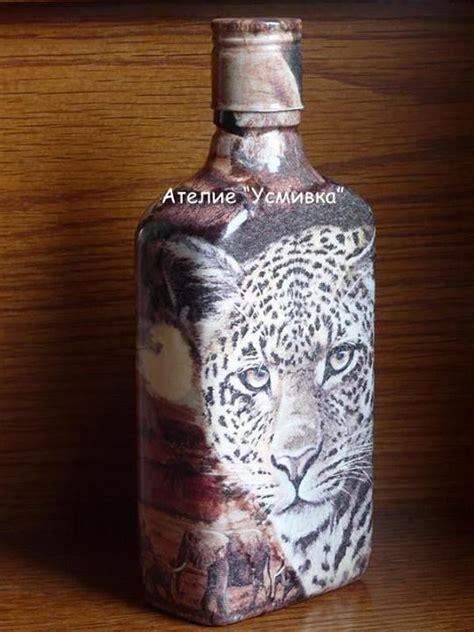 unique decoupage ideas unique bottle decorated with decoupage craft ideas