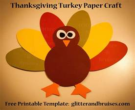 free arts and crafts for thanksgiving turkey paper craft for free pdf pattern