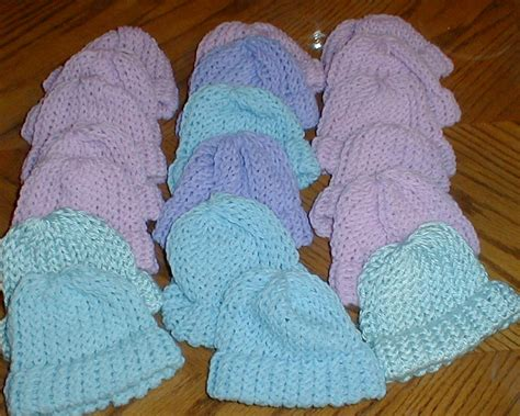 loom knit newborn hat karens crocheted garden of colors loom knitted baby hats
