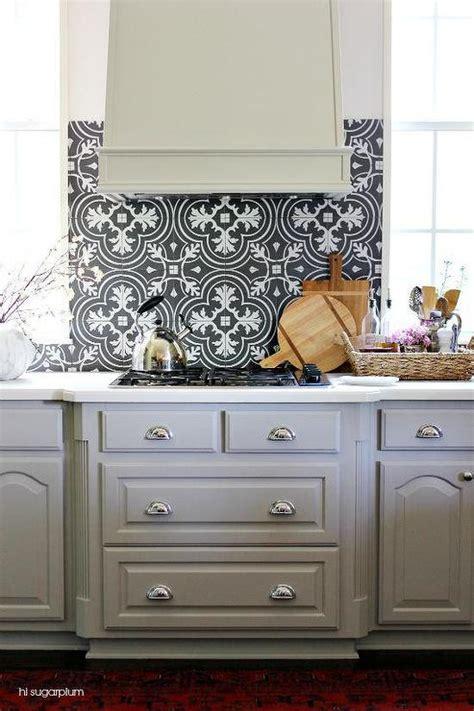 kitchen cabinets and backsplash black and white mosaic tile kitchen backsplash with gray
