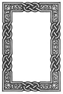 celtic cross border clipart 44