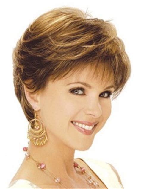 feather cut hairstyle 60 s style short feather cut long neck line lace front wig ladies