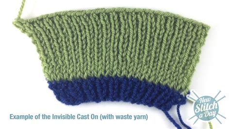 what is waste yarn in knitting how to knit the invisible cast on new stitch a day