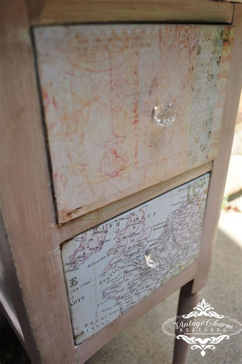 decoupage drawer fronts vanity reveal vintage charm restored