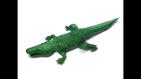 crocodile origami origami american alligator 256ths version process