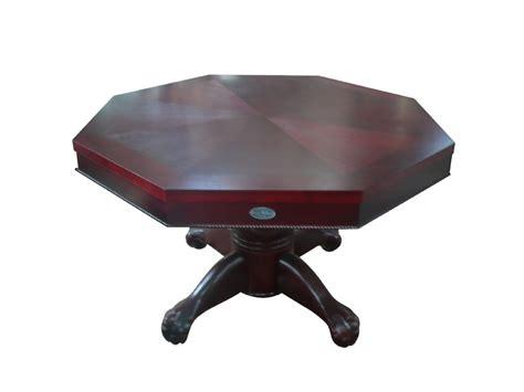 octagon bumper pool table octagon 48 quot 3 in 1 slate bumper pool table mahogany