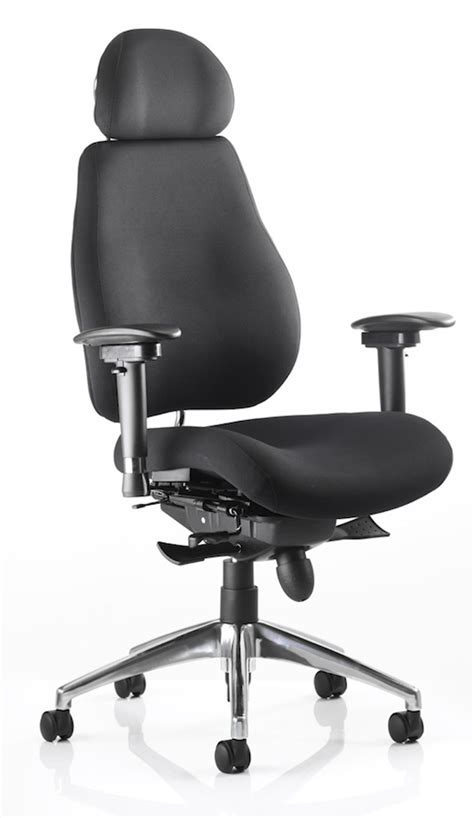 Desk Chair With Headrest by Dynamic Chiro Plus Chair With Headrest Home Office