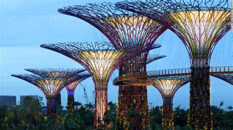 solar powered supertrees at singapore s gardens by the