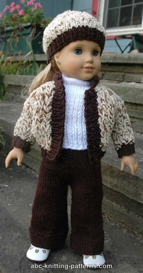18 inch doll clothes knitting patterns free abc knitting patterns 18 inch doll sporty snowsuit