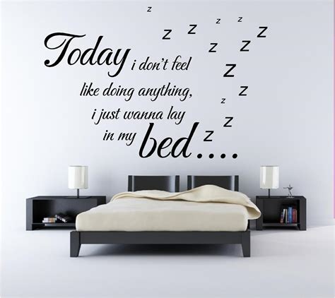 bedroom wall sayings bruno mars lazy song lyrics quote bedroom wall