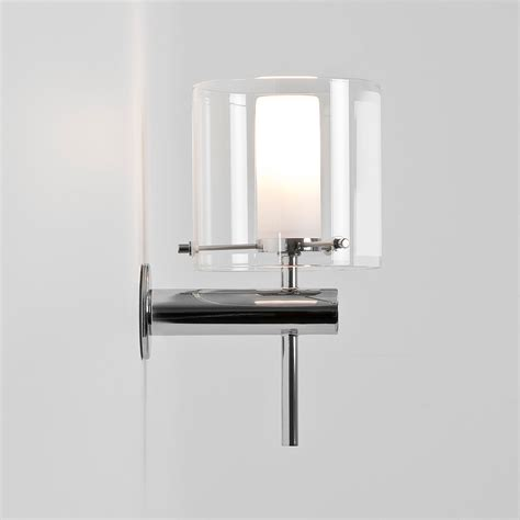 wall lights bathroom astro arezzo polished chrome bathroom wall light at uk