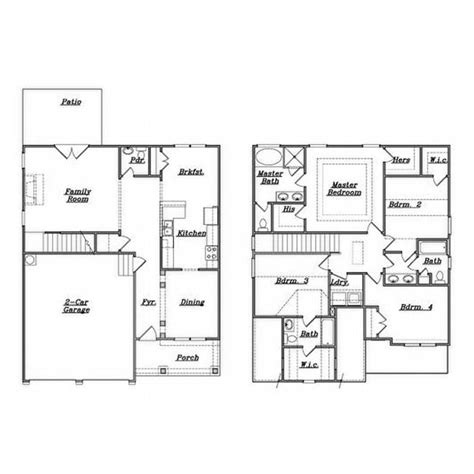 family floor plans family house plans 4 bedrooms home deco plans