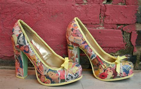 decoupage shoes diy diy decoupage vintage vibes heel lilbo gnomie