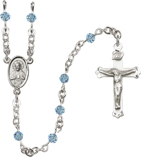 swarovski rosary o connors church supply 4mm aqua swarovski rosary