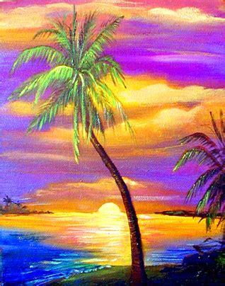 paint nite west island tropical on haitian palm tree