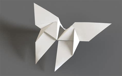 origami animation origami butterfly flapping flying animation 3d model