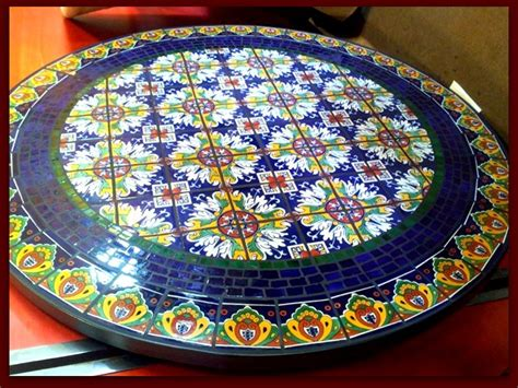 mosaic tile patio table 1000 images about tile style on mexican tiles