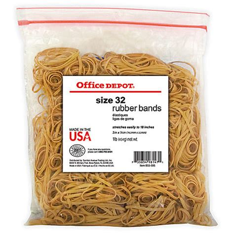 office depot rubber st office depot brand rubber bands 32 3 x 18 crepe 1 lb bag