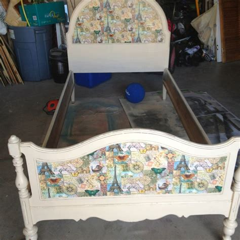 Decoupage Bed Upcycle Furniture Etc By Me