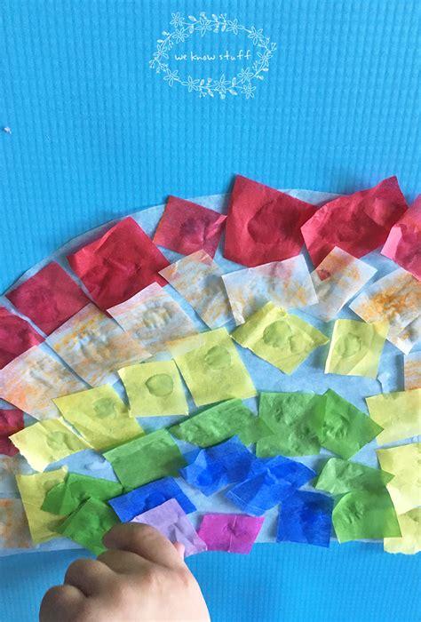 tissue paper suncatcher craft suncatcher craft with tissue paper stained glass rainbows
