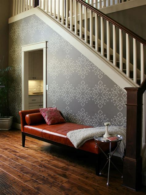 wall stencils for painting rooms how to stencil a focal wall hgtv