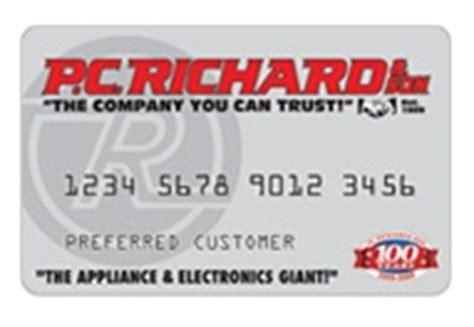 pc richards credit card make payment p c richard credit card payment login and