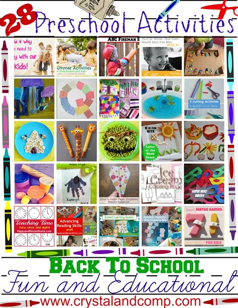projects for preschoolers 28 and educational preschool activities for back to
