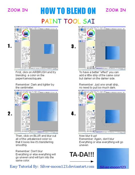paint tool sai how to buy how to blend on paint tool sai by silver moon123 on deviantart