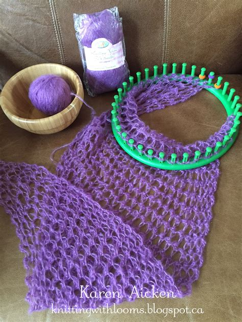 how to use a knitting loom knitting with looms smaller pagosa springs scarf wip