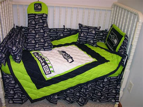 seahawks bed set crib bedding set m w seattle seahawks fabric