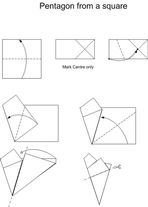 origami pentagon how to get different paper shapes for origami models