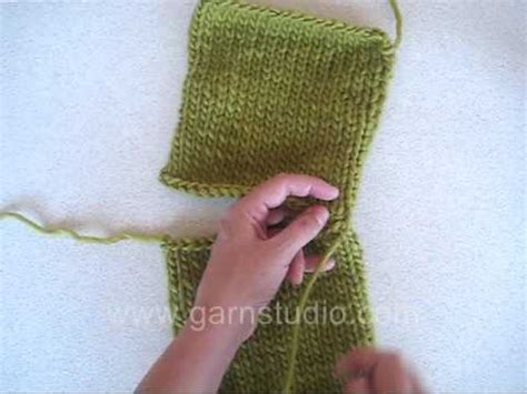 how to seam knitting together drops technique tutorial how to sew shoulder seam