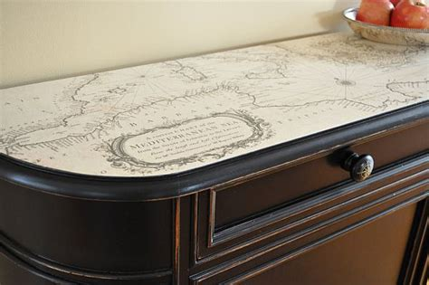 decoupage desk top how to use maps in home decor