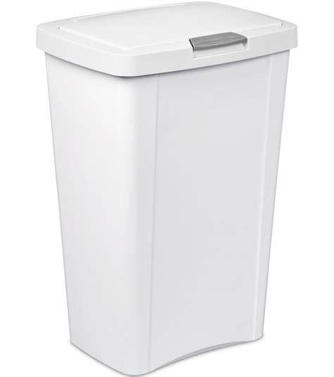 kitchen trash can sterilite 13 gallon kitchen trash can