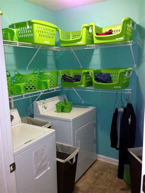 small laundry room storage solutions small laundry room storage solutions with basket racks