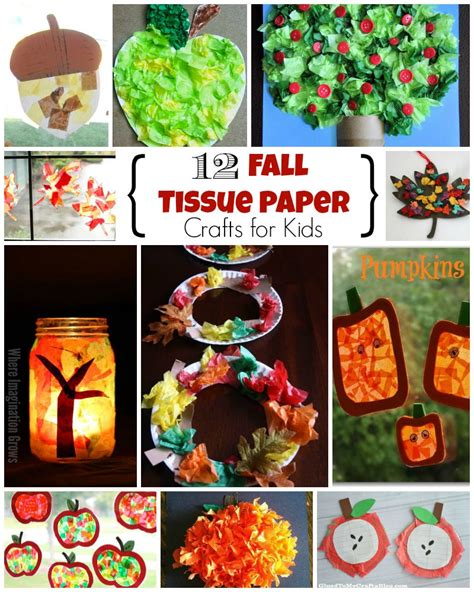 fall paper crafts for 12 fall crafts for using tissue paper where