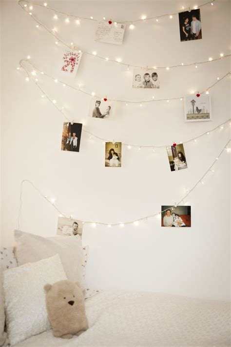 lights on bedroom wall how you can use string lights to make your bedroom look dreamy