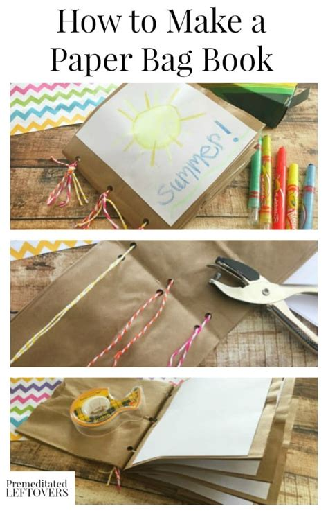 how to make bag how to make a paper bag book for