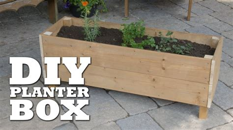 build your own planter box how to build a planter box