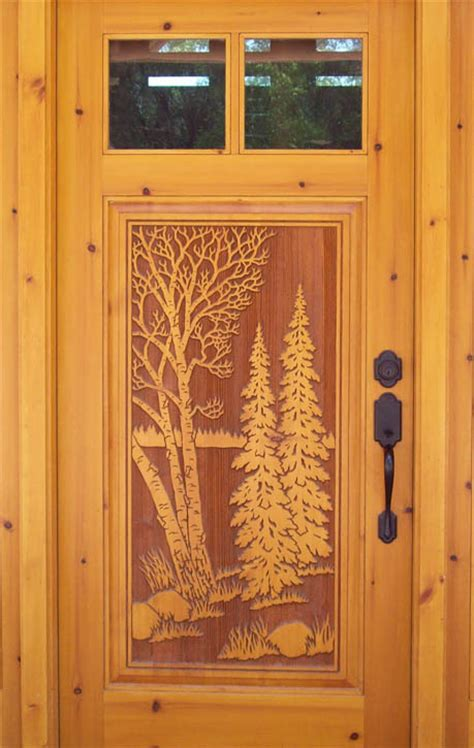 carved front doors carved doors 171 real log style