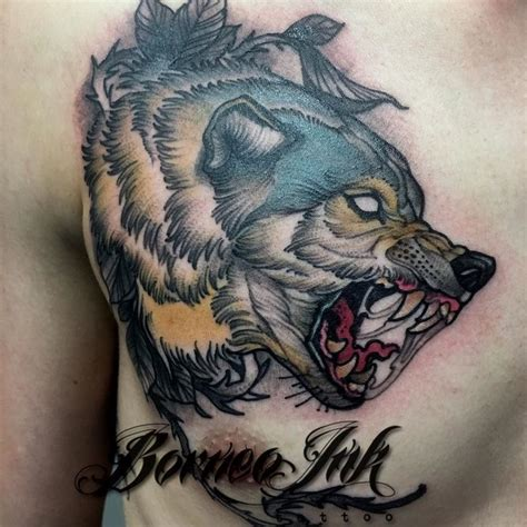 neo trad wolf on nikkkely thks buddy
