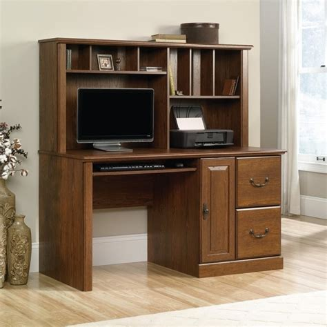 desk with hutch for computer desk with hutch in milled cherry 418650