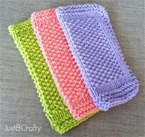 Learn How To Knit With A Knit Dishcloth Pattern 10