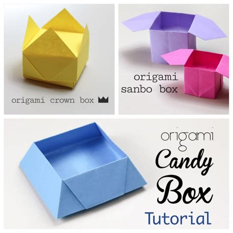 how to make origami containers 3 easy origami boxes photo paper kawaii