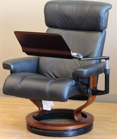 recliner computer desk stressless recliner personal computer laptop table for