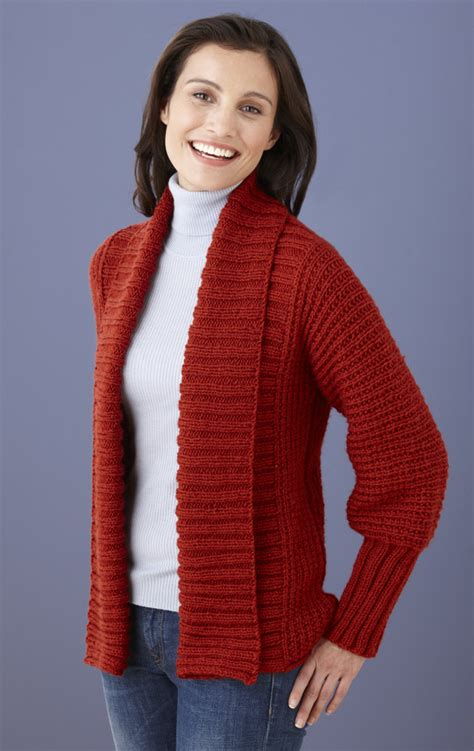 free easy knitting patterns for cardigans drapey cardigan in brand vanna s choice l10572