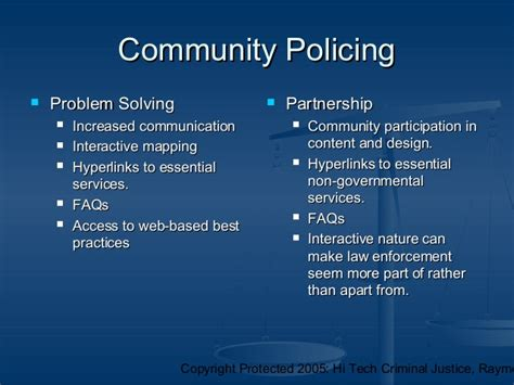 community policing partnerships for problem solving the and enforcement