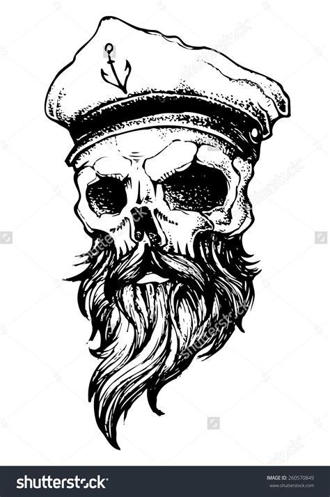 skull beard bearded skull clip 43